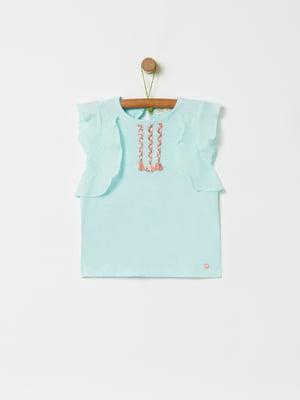 Блуза бірюзова | 5384377