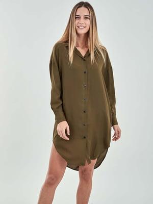 Рубашка цвета хаки | 5384501