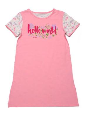 Рубашка ночная розовая | 5387650