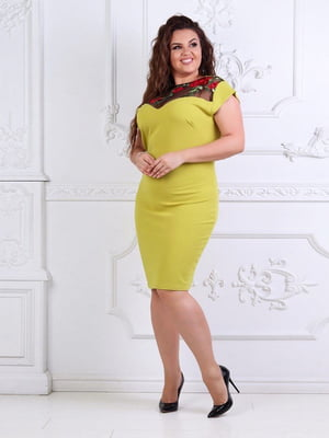 Сукня оливкового кольору | 5387719