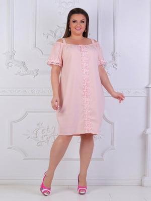 Сукня кольору пудри | 5387728