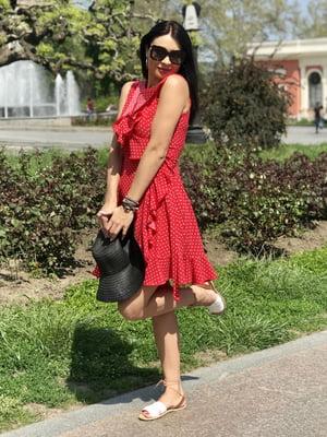 Сукня червона в горох | 5387737