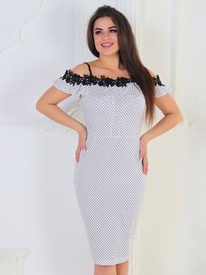 Сукня біла в горох | 5387739