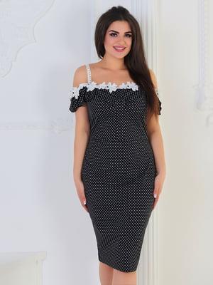 Сукня чорна в горох | 5387741