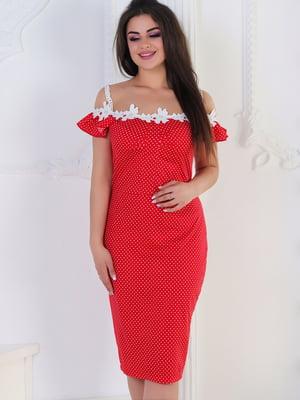 Сукня червона в горох | 5387743