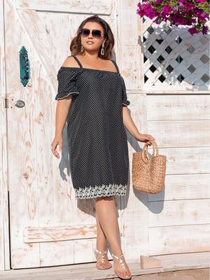 Сукня чорна з принтом | 5387747