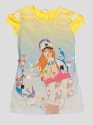 Сукня в принт з 3D-ефектом   5387512