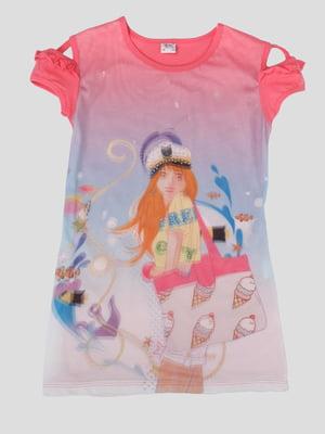 Сукня в принт з 3D-ефектом   5387513