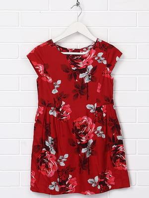 Сукня червона з принтом | 5388004