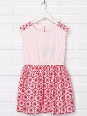 Сукня рожева з принтом | 5388005