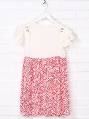 Платье комбинированной расцветки с принтом   5388011