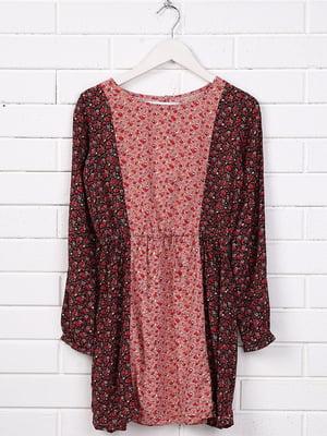 Платье комбинированной расцветки с принтом   5388023