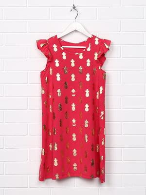 Платье малинового цвета с принтом   5388026