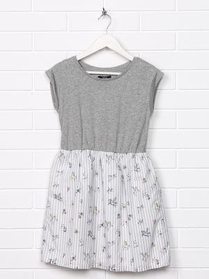 Платье комбинированной расцветки с принтом   5388027