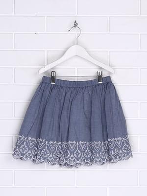 Спідниця блакитна з декором | 5388090