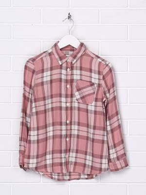 Рубашка розовая в клетку | 5388101