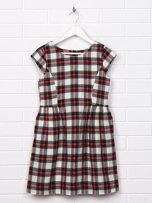Платье комбинированной расцветки в клетку   5388133