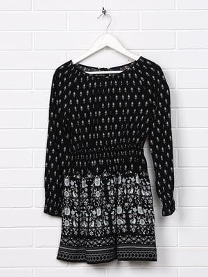 Платье черное с принтом   5388134