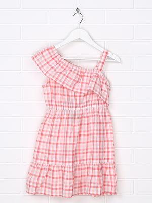 Сукня персикового кольору в клітинку | 5388194