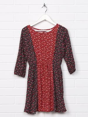 Платье комбинированной расцветки с принтом   5388196