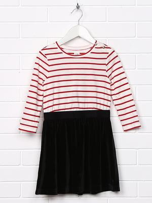 Платье комбинированной расцветки в полоску   5388197
