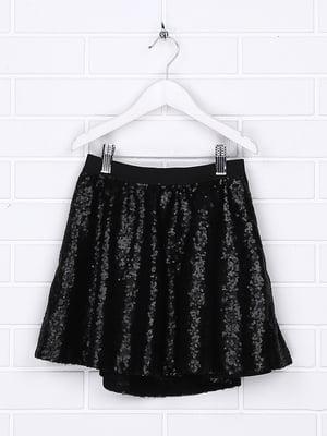 Спідниця чорна з декором | 5388204