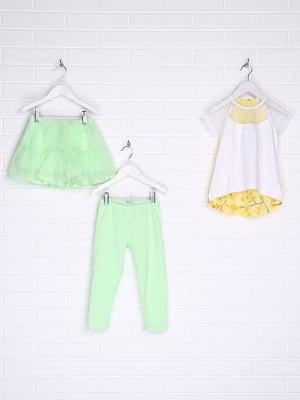 Комплект: футболка, спідниця і штани | 5388224