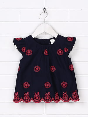 Платье синее с декором   5388248