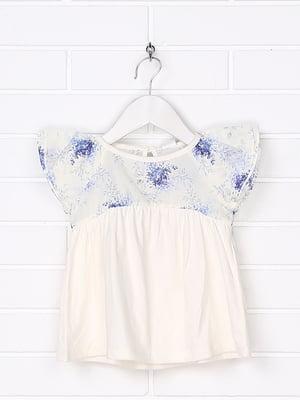 Платье белое с принтом   5388281