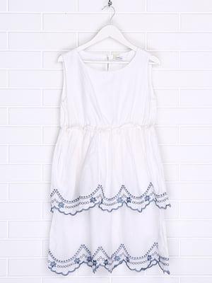 Платье белое с принтом | 5388355