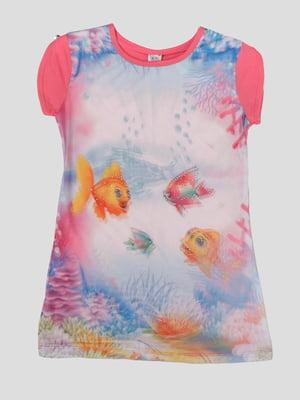 Сукня в принт з 3D-ефектом   5387515