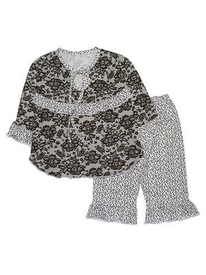 Пижама: лонгслив и брюки | 5388424