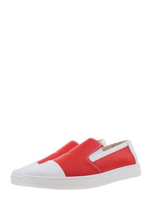 Мокасины красно-белые | 5388638