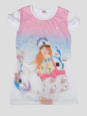 Сукня в принт з 3D-ефектом   5387514