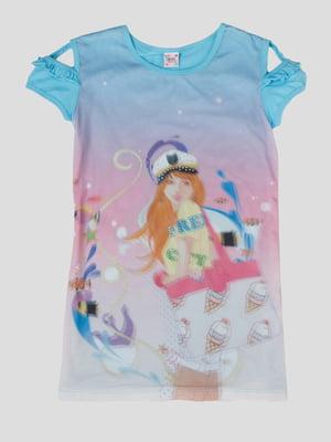 Сукня в принт з 3D-ефектом   5387510