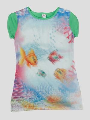 Сукня в принт з 3D-ефектом   5387516