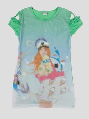 Сукня в принт з 3D-ефектом   5387511