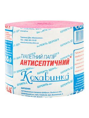 Упаковка туалетного паперу антисептичної (без втулки; 1 шт; по 8 рулонів; рожева) | 5390822