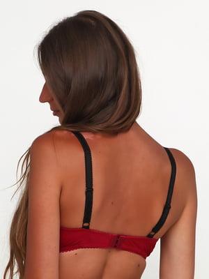 Бюстгальтер бордово-чорний | 5393331