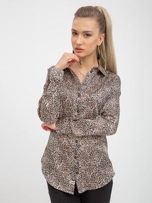 Рубашка в леопардовый принт | 5393458