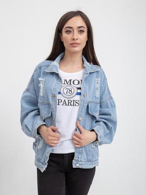 Куртка джинсовая голубая | 5393464