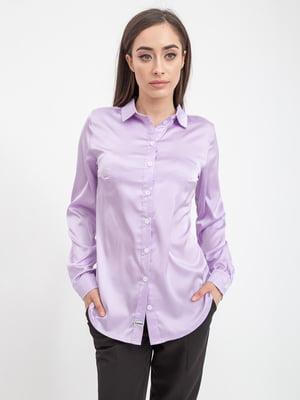 Рубашка сиреневая | 5393532