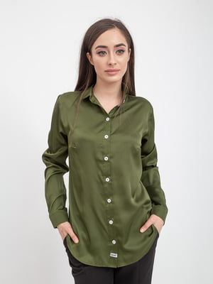 Рубашка оливкового цвета | 5393533