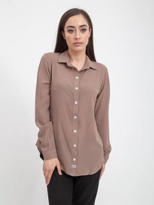 Рубашка светло-коричневая | 5393536