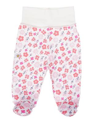 Повзунки рожеві з принтом | 5394158