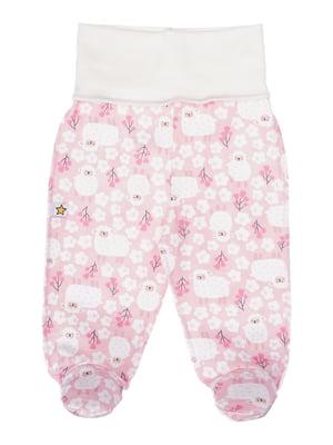 Повзунки рожеві з принтом | 5394160