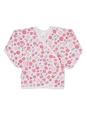 Распашонка розовая с принтом | 5394165