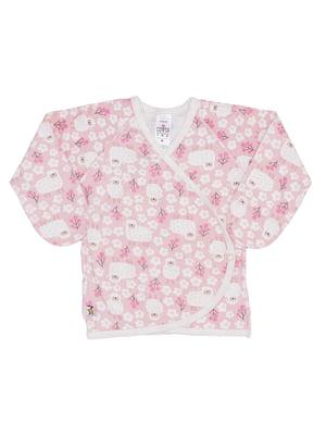 Распашонка розовая с принтом | 5394167
