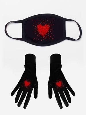 Набір: маска і рукавички з принтом | 5394215