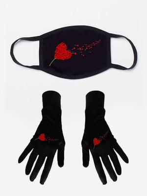 Набір: маска і рукавички з принтом | 5394216